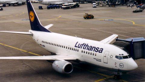 Maschine der Lufthansa