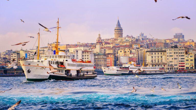Galataturm und Goldenes Horn Istanbul