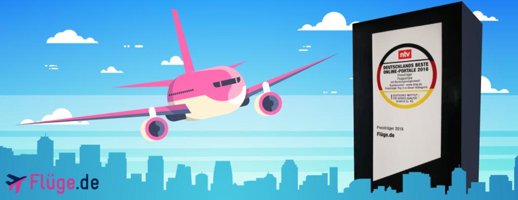 Flüge.de - Deutschlands beste Online-Portale