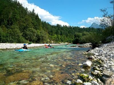 Slowenien Alpenfluss