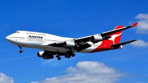 Flugzeug von Qantas Airlines